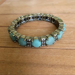Gem crystal stretch statement bracelet
